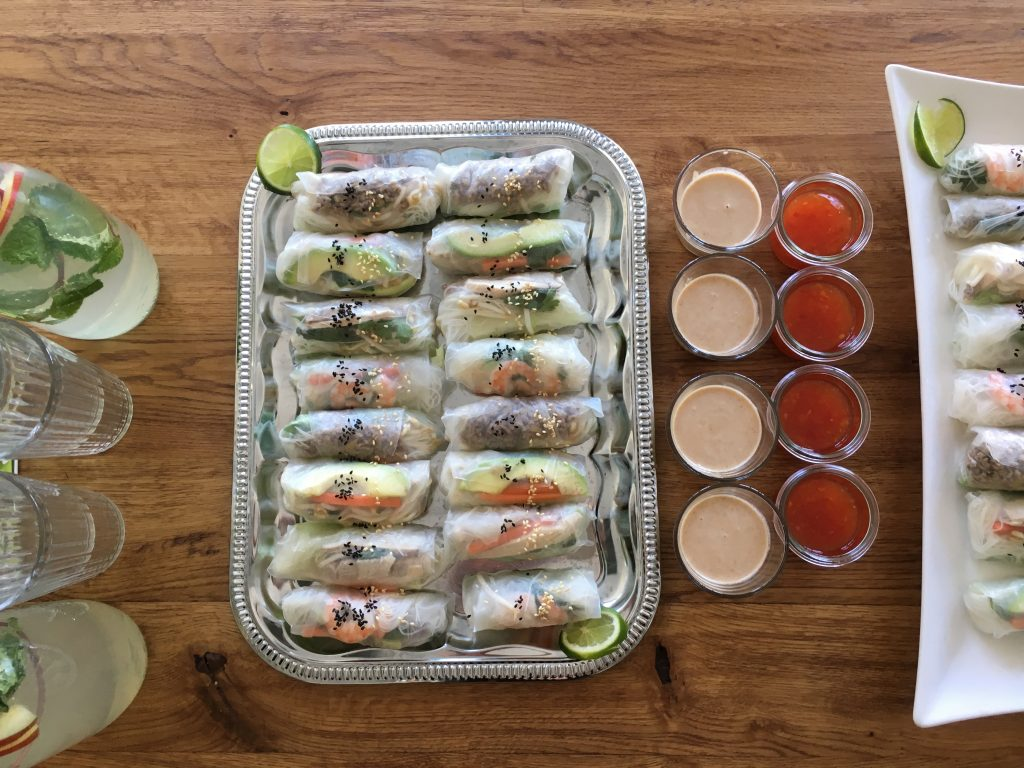 Summer rolls + tasty sauces