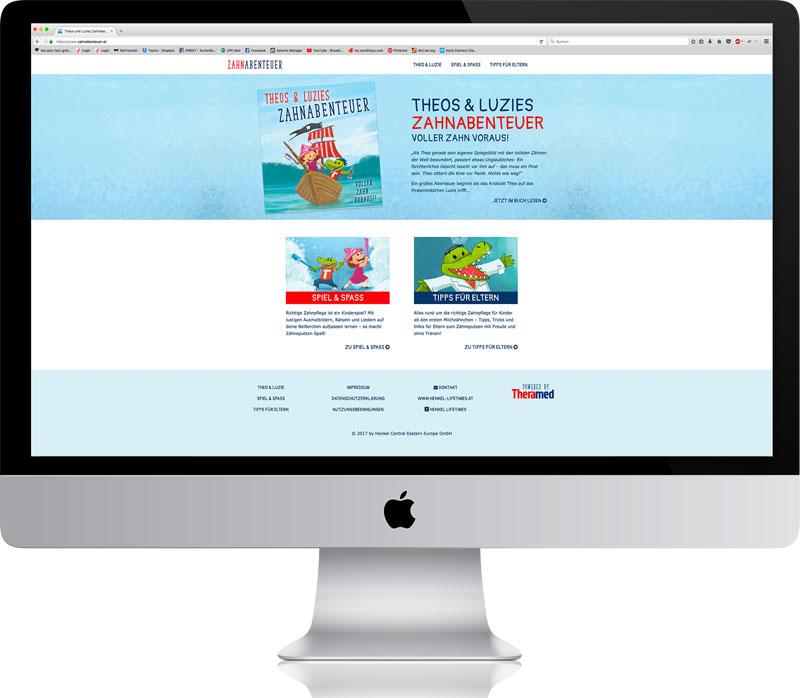 Theos & Luzies Zahnabenteuer - Website