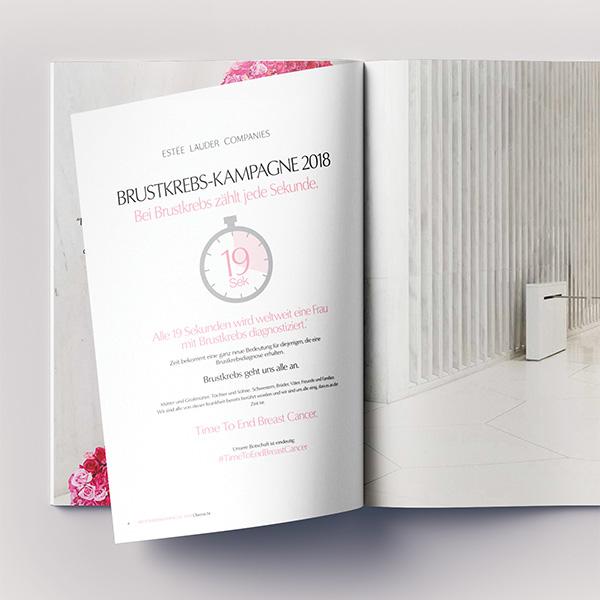 pink ribbon Broschüre offen