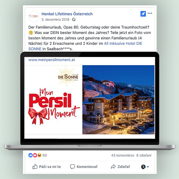 Mein Persil Moment - Facebook Post
