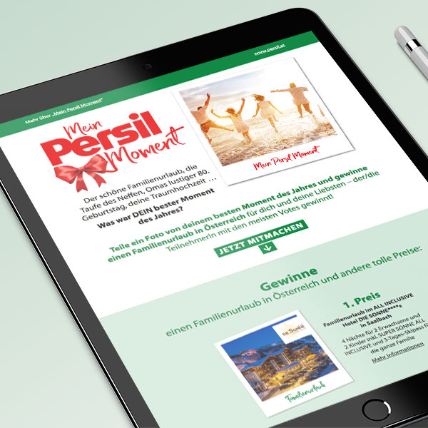 Mein Persil Moment - Tablet